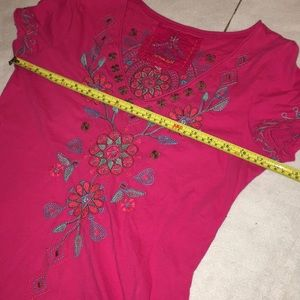 Johnny Was Tops - LAST CHANCE Johnny Was Embroidered Shirt Med JWLA